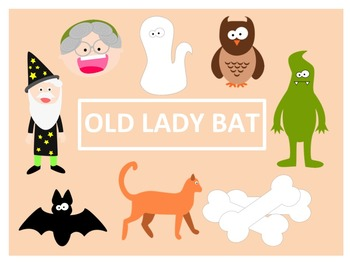 There Was an Old Lady Who Swallowed a Bat Clip Art