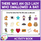 There Was an Old Lady Who Swallowed a Bat! Cut & Paste Book