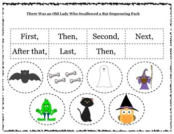 There Was an Old Lady Who Swallowed a Bat - Differentiated Activity Pack
