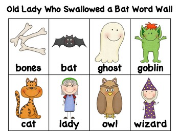 There Was an Old Lady Who Swallowed a Bat Literacy