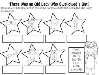 There Was an Old Lady Who Swallowed a Bat! Math & Literacy Activities