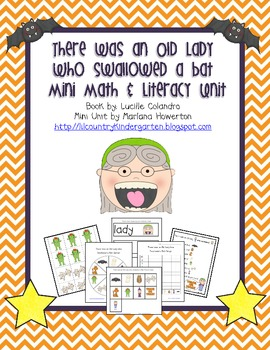 There Was an Old Lady Who Swallowed a Bat Mini Math and Literacy Unit