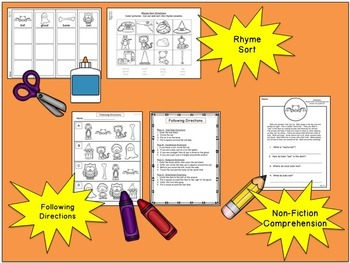 There Was an Old Lady Who Swallowed a Bat:  No-Prep Printables Pack