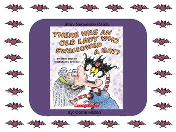 There Was an Old Lady Who Swallowed a Bat Story Sequence Cards