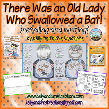 There Was an Old Lady Who Swallowed a Bat! {retelling and writing}