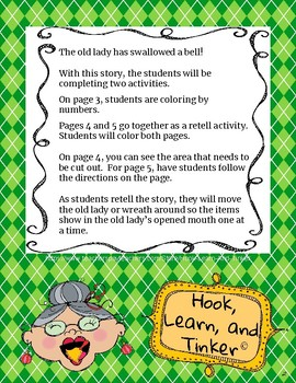 Old Lady Who Swallowed a Bell Activity Pack