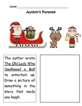 There Was an Old Lady Who Swallowed a Bell Author's Purpose