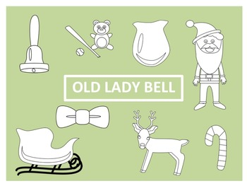 There Was an Old Lady Who Swallowed a Bell Clip Art