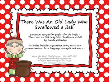 There Was an Old Lady Who Swallowed a Bell - Speech & Language Packet (Holidays)