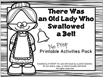 There Was an Old Lady Who Swallowed a Bell:  No-Prep Print