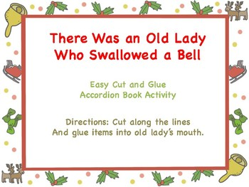 There Was an Old Lady Who Swallowed a Bell Sequencing craftivity (Color and B+W)