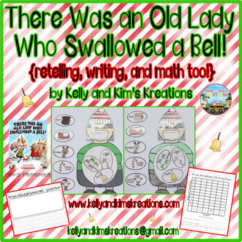 There Was an Old Lady Who Swallowed a Bell! {retelling, writing, & math too!}