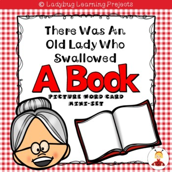 There Was an Old Lady Who Swallowed a Book  (Mini Vocabulary Card Bundle Set)