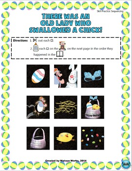 There Was an Old Lady Who Swallowed a Chick: A Sequencing Activity