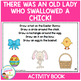 There Was an Old Lady Who Swallowed a Chick! Cut & Paste A