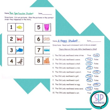 Companion for Old Lady Who Swallowed a Shell Beach Summer Activity Pack