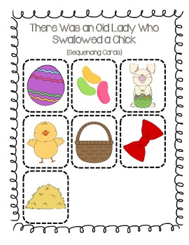 There Was an Old Lady Who Swallowed a Chick Sequencing/Retelling Cards
