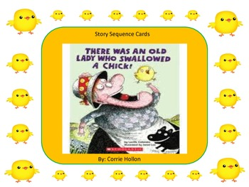 There Was an Old Lady Who Swallowed a Chick Story Sequence Cards