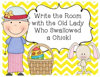 There Was an Old Lady Who Swallowed a Chick! Write the Room & ABC Order