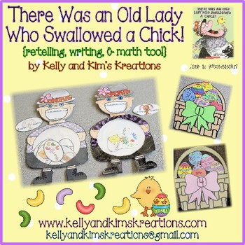 There Was an Old Lady Who Swallowed a Chick! {retelling, writing, & math too!}