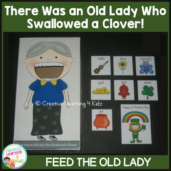 There Was an Old Lady Who Swallowed a Clover! Cut-Out
