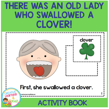 There Was an Old Lady Who Swallowed a Clover! Cut & Paste Activity Book