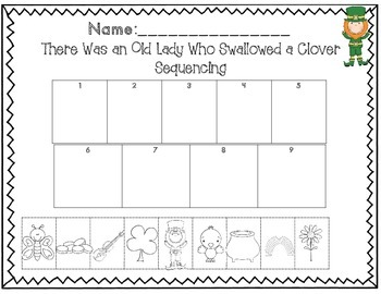 There Was an Old Lady Who Swallowed a Clover Math & Literacy Unit