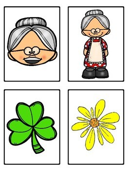There Was an Old Lady Who Swallowed a Clover (Mini Vocabulary Word Bundle)