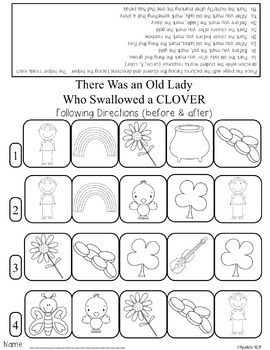 Speech Language and Literacy:  There Was an Old Lady Who Swallowed a Clover