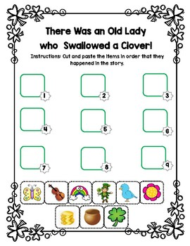 There Was an Old Lady Who Swallowed a Clover Sequencing Activity