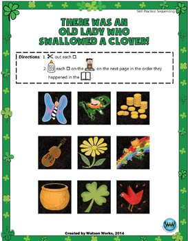 There Was an Old Lady Who Swallowed a Clover:A Sequencing Activity