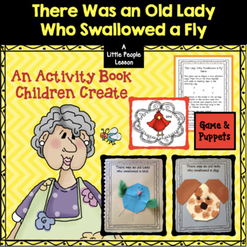 """""""There Was an Old Lady Who Swallowed a Fly """" ACTIVITY BOOK for Preschoolers"""