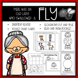 There Was an Old Lady Who Swallowed a Fly Emergent Reader and Mini Literacy Set