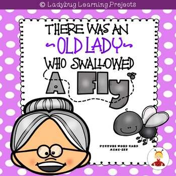 There Was an Old Lady Who Swallowed a Fly  (Mini Vocabulary Card Bundle)