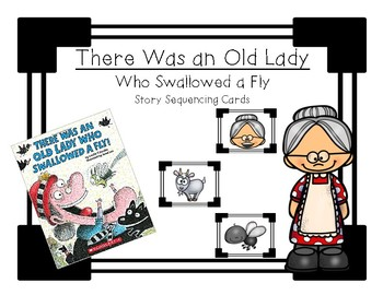 There Was an Old Lady Who Swallowed a Fly - Sequencing Cards