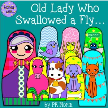 there was an old lady who swallowed a fly stick puppets class book