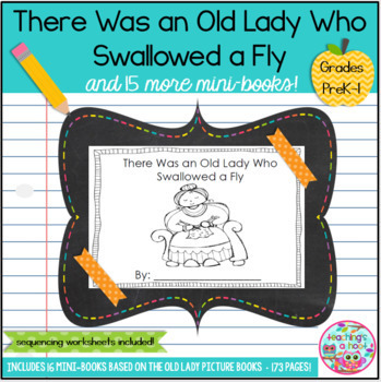 there was an old lady who swallowed a fly and 15 more old lady mini