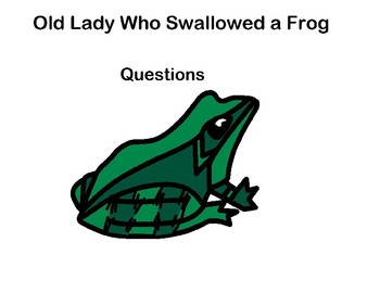 There Was an Old Lady Who Swallowed a Frog Interactive question book