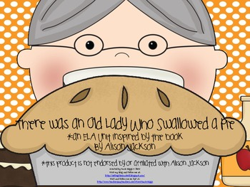 I Know an Old Lady Who Swallowed a Pie! activities