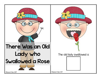 There Was an Old Lady Who Swallowed a Rose Adapted Book