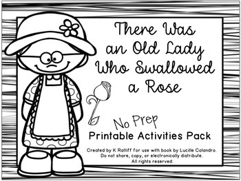 They was an old lady who swallowed a rose coloring book