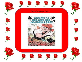 There Was an Old Lady Who Swallowed a Rose!: Story Sequence Cards