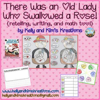 There Was an Old Lady Who Swallowed a Rose! {retelling, writing, & math too!}