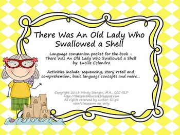 There Was an Old Lady Who Swallowed a Shell - Language Packet (summer/beach)