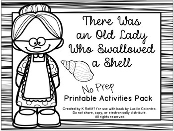 There Was an Old Lady Who Swallowed a Shell:  No-Prep Pack