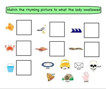 There Was an Old Lady Who Swallowed a Shell SMART board activity