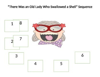 There Was an Old Lady Who Swallowed a Shell Sequence
