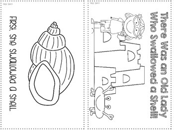 There Was an Old Lady Who Swallowed a Shell {Speech & Language Story Activities}