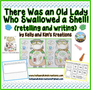 There Was an Old Lady Who Swallowed a Shell! {retelling and writing}