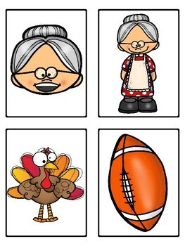 There Was an Old Lady Who Swallowed a Turkey (Mini Vocabulary Word Bundle)